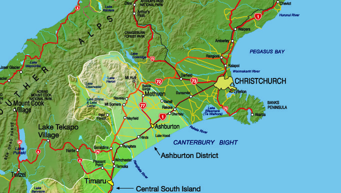 Map Of Canterbury New Zealand.Mid Canterbury There Is Nowhere In The World Where You Can